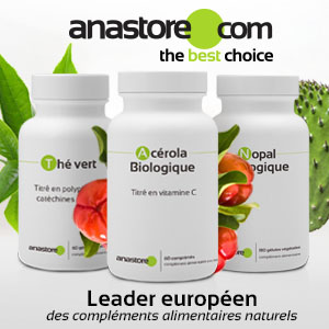 Compléments alimentaires à base d'acérola bio, de thé vert et de nopal bio